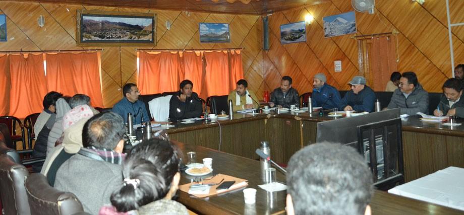 DC, Kargil, convenes meeting on Gram Panchayat Development Programme