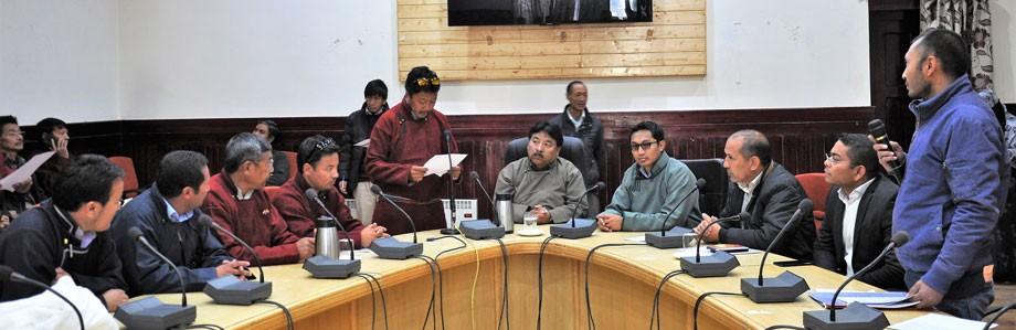 Block Development Council Chairmen takes oath in Leh