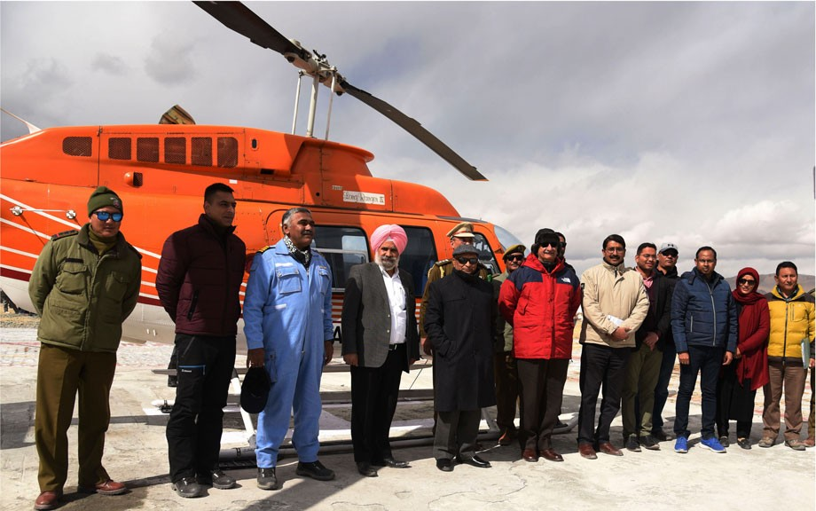 L-G flags off subsidised helicopter service in Ladakh