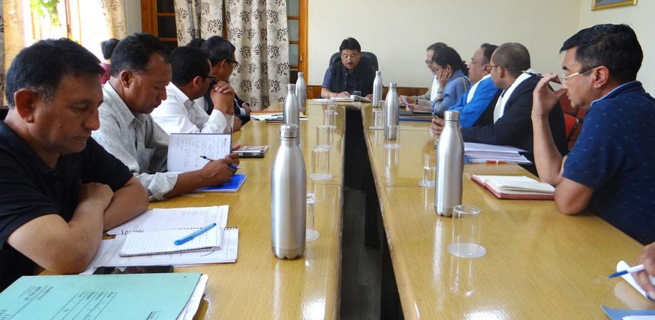 Wangyal convenes meeting regarding development of sports infra in Leh