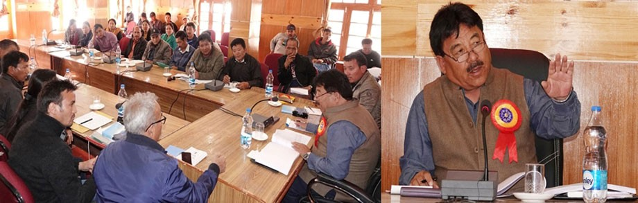 Gyal P Wangyal visits villages of Nyoma block