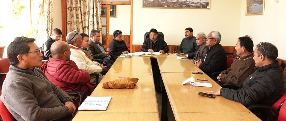 Meeting held to discuss preparation for Ladakh dPal-rNgam Duston
