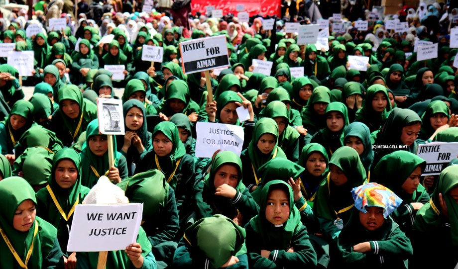 Kargil protested against Sumbla rape case