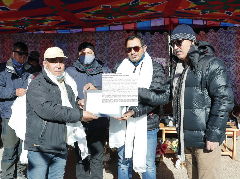 UT Ladakh ranks first in FMD vaccination