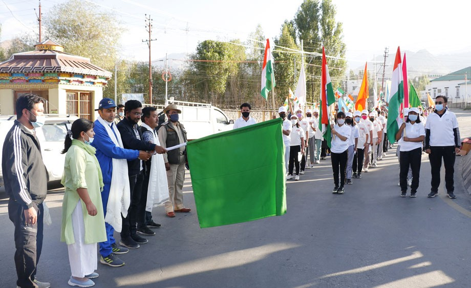 Fit India Freedom Run 2.0 held in Leh