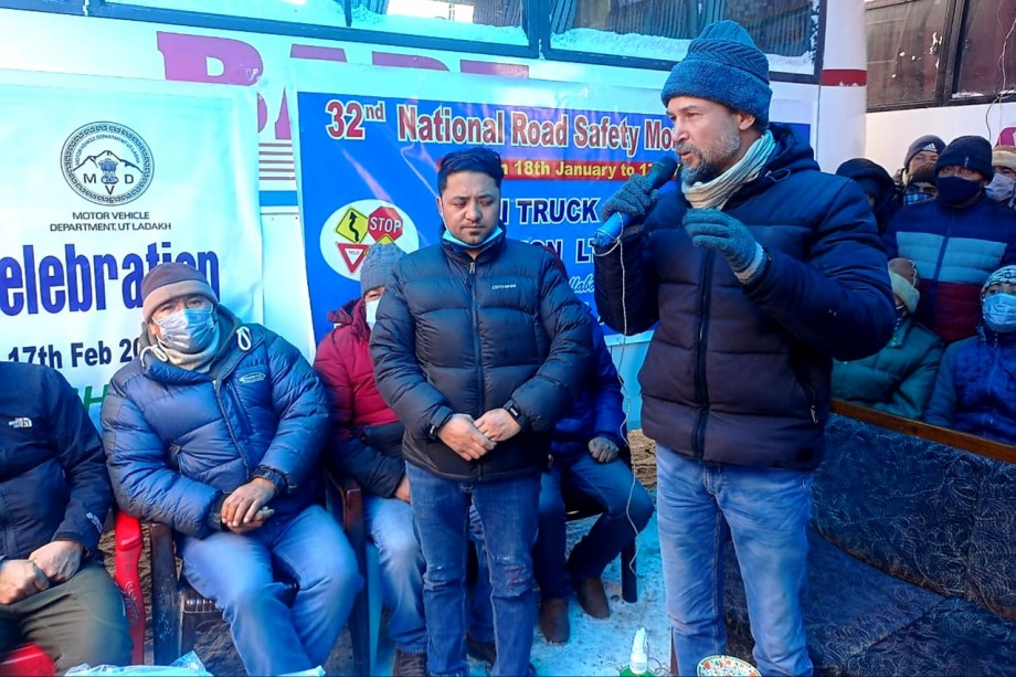 Road Safety awareness programmes for transporters, drivers held in Kargil