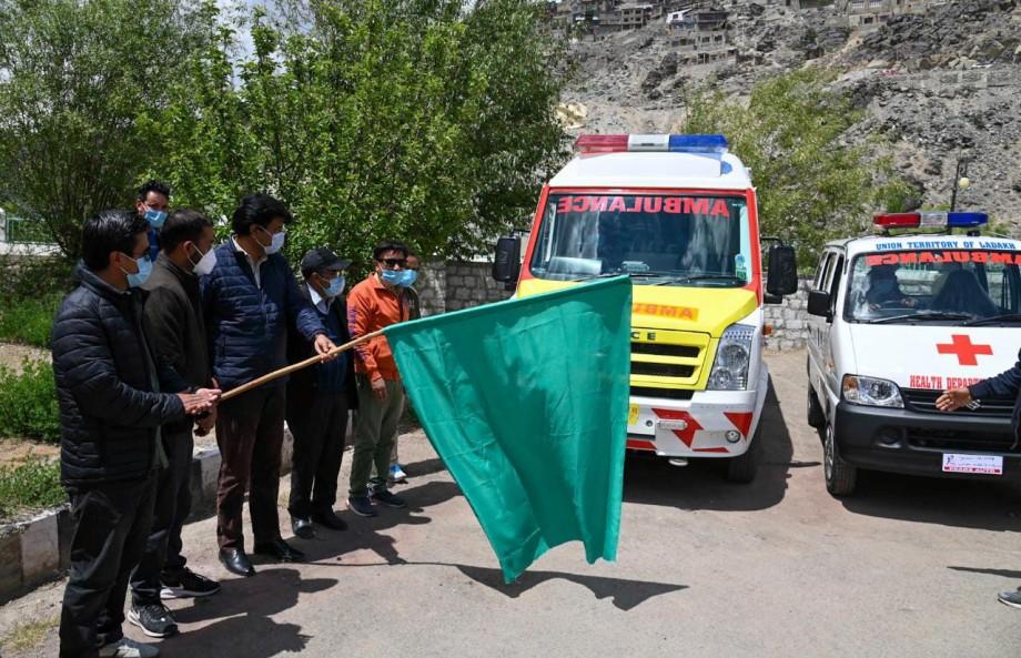 Kargil gets 1 advanced life support & 8 basic care support ambulances