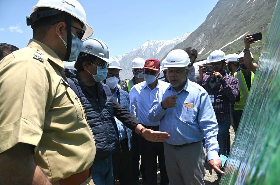 CEC, Kargil, Feroz Khan takes stock of Zojila tunnel construction work