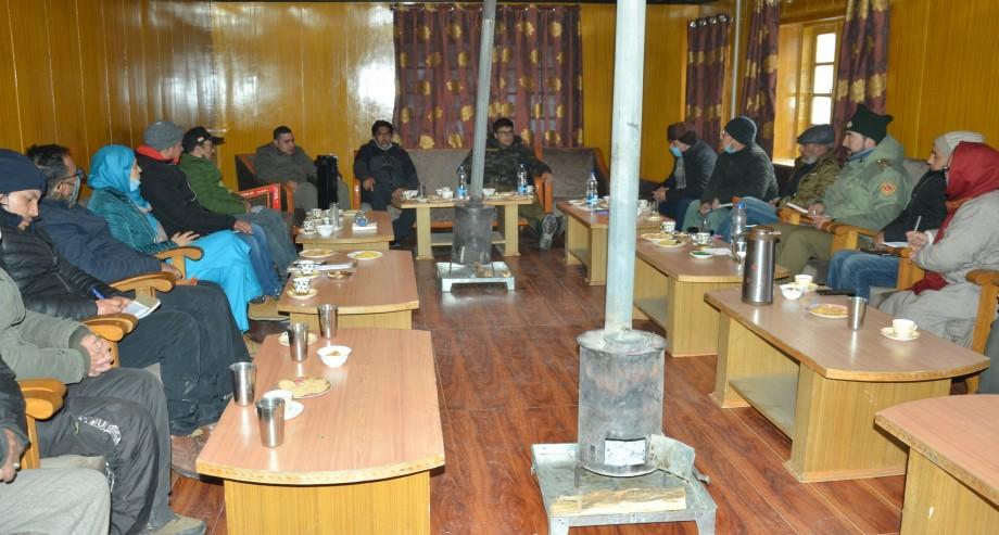 DC Kargil takes stock of developmental activities in Sankoo Sub Division