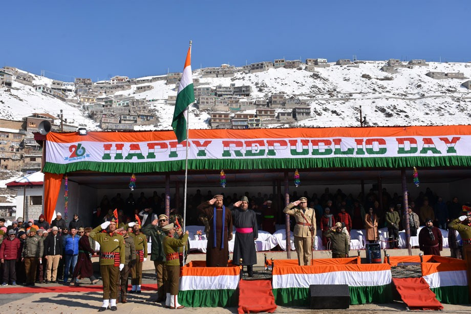 CEC hoists Tricolour during Republic Day celebration in Kargil