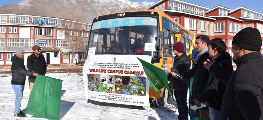 Wildlife Campus Caravan campaign launches in Kargil