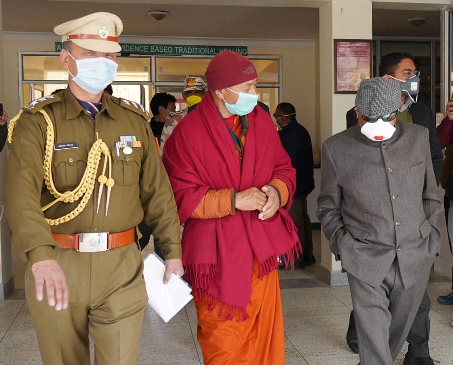 COVID-19: L-G visits Mahabodhi Karuna Charitable Hospital