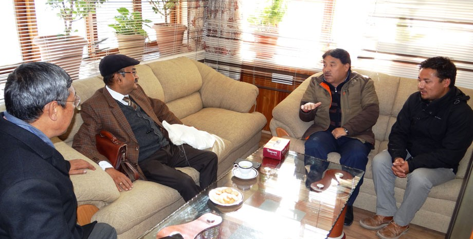 Director General, CIDC meets Hill Council, Leh