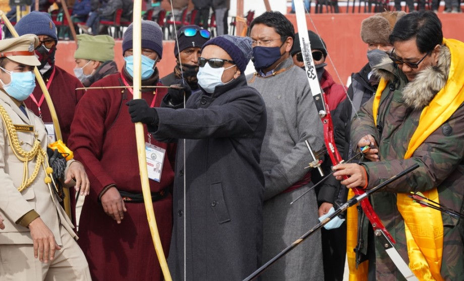 Kiren Rijiju inaugurates 1st Khelo India Ladakh Winter Games Archery competition