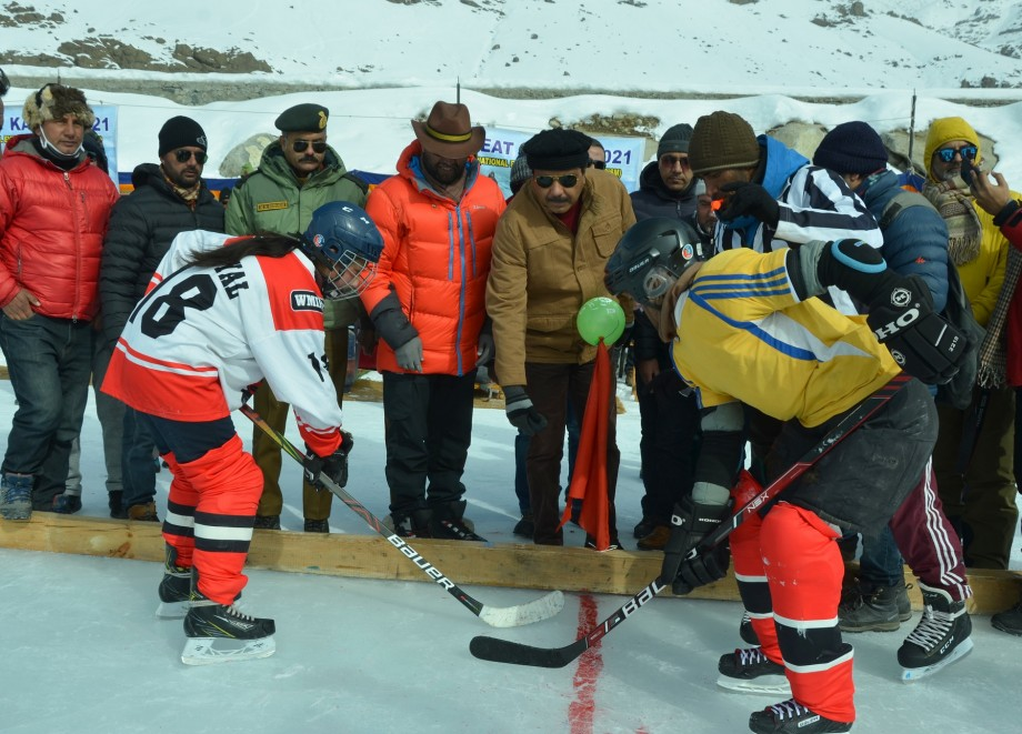 Ice Hockey matches under NEAT held at Drass