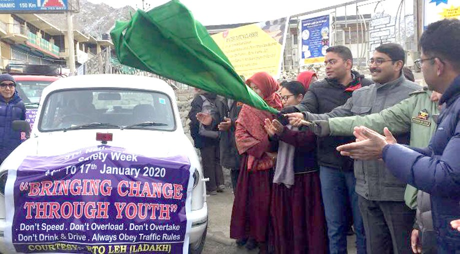 National Road Safety Week commences in Leh