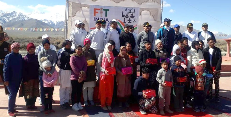 ITBP organises mini-marathon under 'Fit India Movement' in Leh