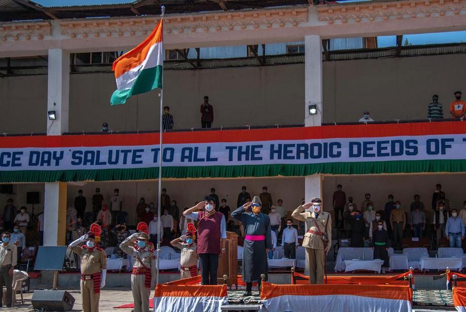 Kargil celebrates 74th Independence Day; CEC unfurls national flag