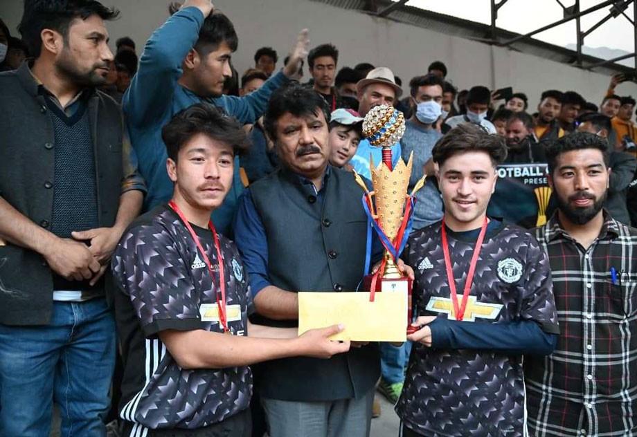 Team FC Poyen beats RLC Baroo in District level football tournament