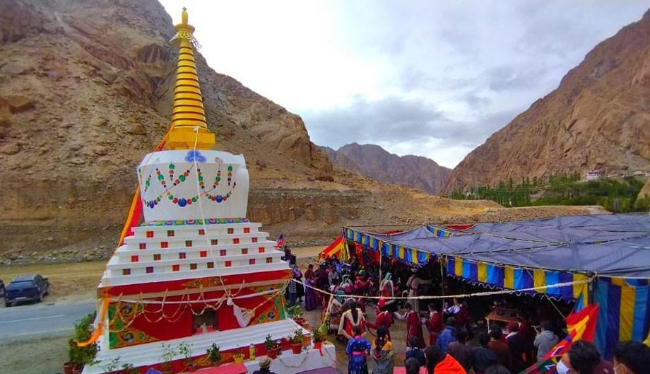 700- year- old Gomang Stupa restored in Liktsey