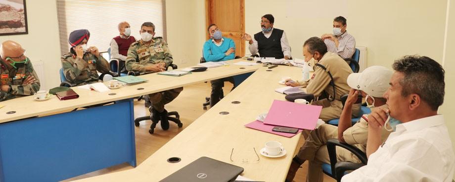 Divisional Commissioner assesses disaster preparedness in Ladakh