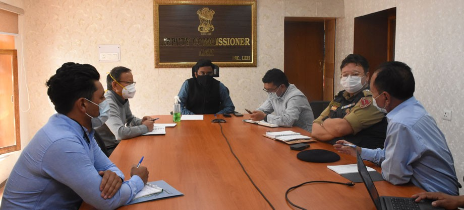 Chairman DDMA, Leh reviews current COVID-19 situation in Leh