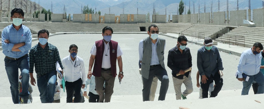 Secretary Youth Services and Sports inspects various stadiums in Leh