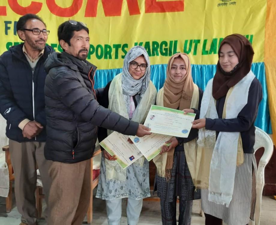 Three girls from Kargil participates in National Handball Championship