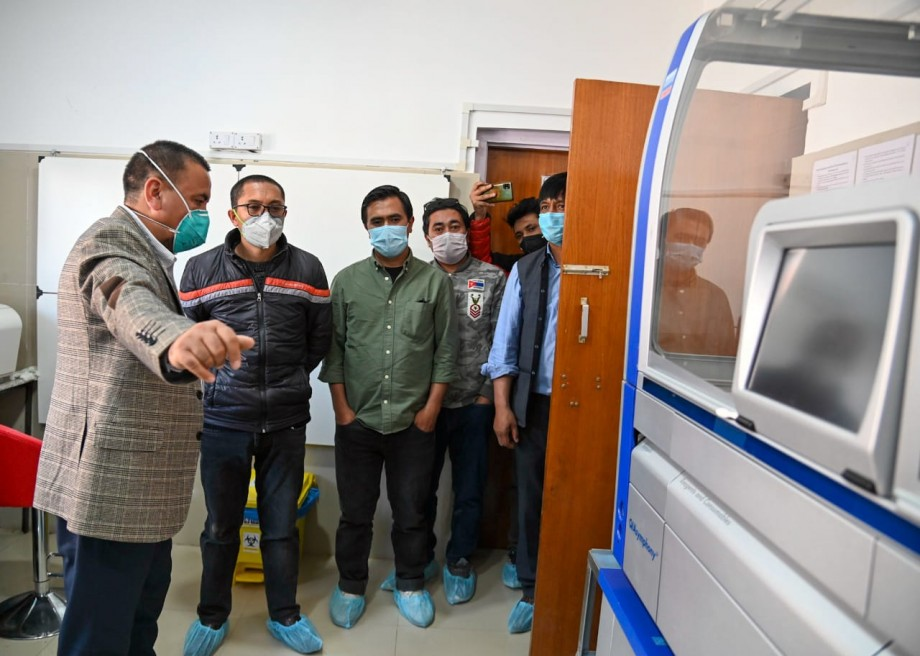 MP, Ladakh takes stock of patient care facilities at District Hospital, Kargil