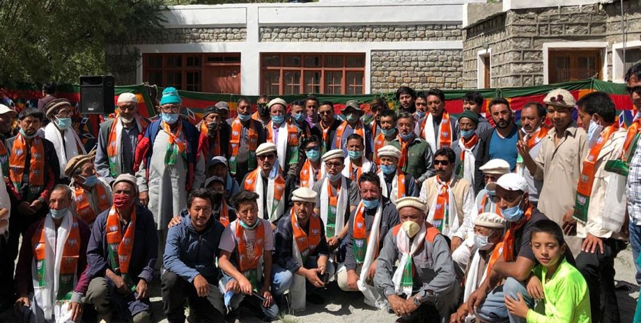 Turtuk-Bogdang people switches to BJP gives jolt to Congress, NC