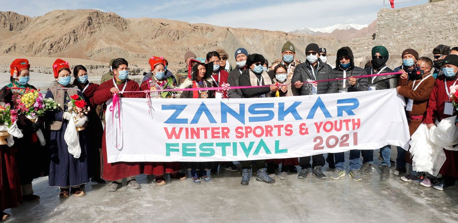 1st Khelo India Zanskar Winter Sports & Youth Festival flagged-off